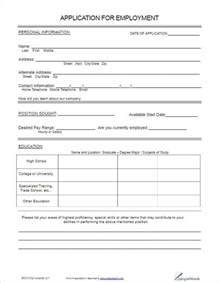 Free Employment Application Template employment application form template free word pdf