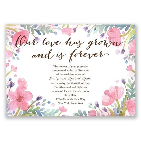 Wedding Vows Renewal by Grows Vow Renewal Invitation Invitations By