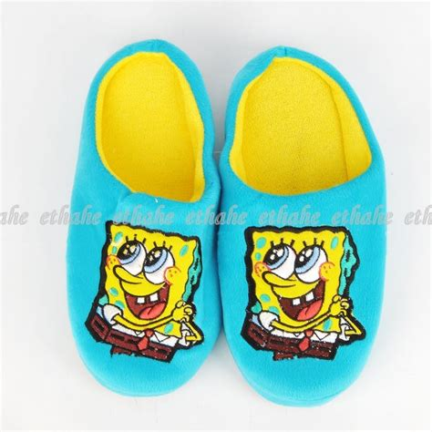 spongebob house shoes spongebob squarepants plush slippers house shoes egg1jw ebay