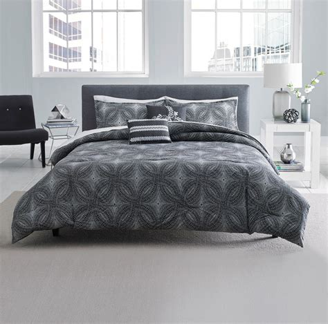 geometric bedding attention geometric comforter set black white home