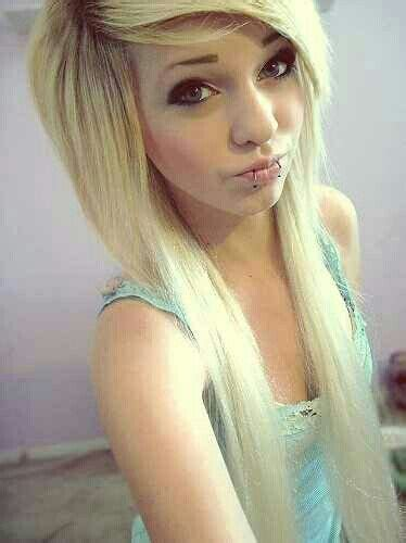blonde emo haircuts emo hairstyle for girls with long hair styles weekly