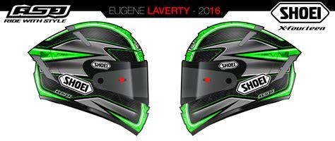 Helm Shoei X Spirit helm 37 shoei x spirit iii e laverty 2016 by asd painted by shoei