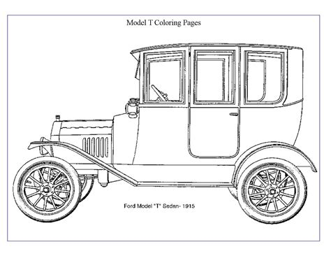 coloring page of model t car the model t ford club of greater st louis inc word search