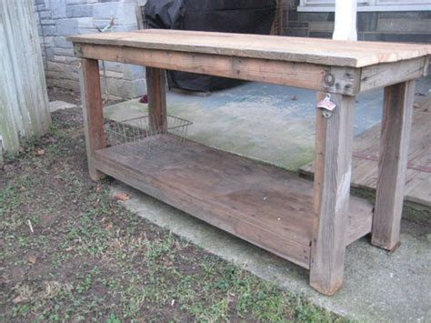 wooden island bench vintage primitive kitchen island table rustic work bench