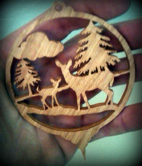 deer christmas ornament scroll   susanna  etsy