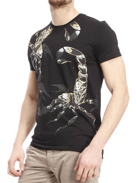Printed Cotton T Shirt By Roberto Cavalli T Shirts Ikrix by Roberto Cavalli Printed Cotton T Shirt T Shirts Cm749y2428001