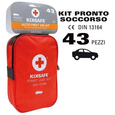 kit cassetta pronto soccorso cassetta pronto soccorso kiksafe kit emergenza per auto