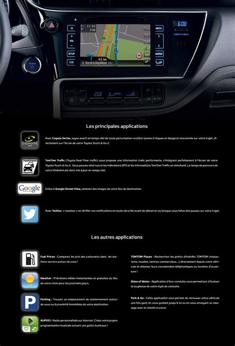 Toyota Touch Apps Les Applications Toyota Touch Go 2