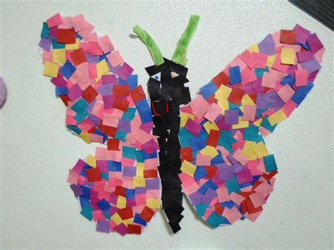 arts and crafts for kindergarten students at this cclc welcomed springtime by creating a