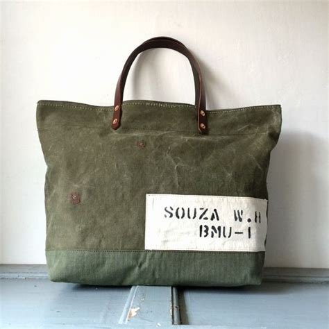 Great Find 50 Outfitters Slouchy Duffle Tote by 50 S Era Us Army Canvas Duffle Remake Tote Bag Size