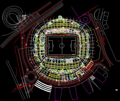football stadium in autocad cad download 307 mb
