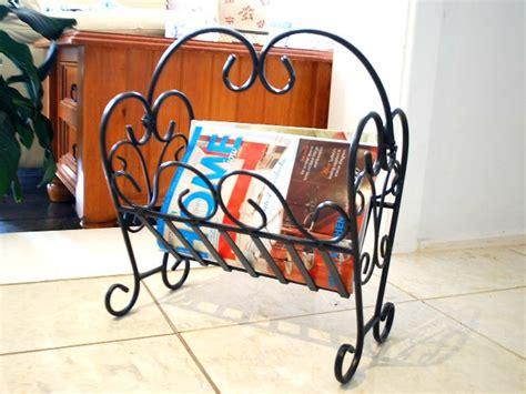wrought iron magazine rack style d 002 ebay