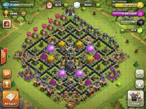 Town hall level 9 farming bases clash of clans town hall 9 defense