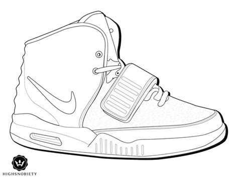 Color Your Own Nike Air Yeezy 2 Sneakernews Com Air 5 Coloring Page