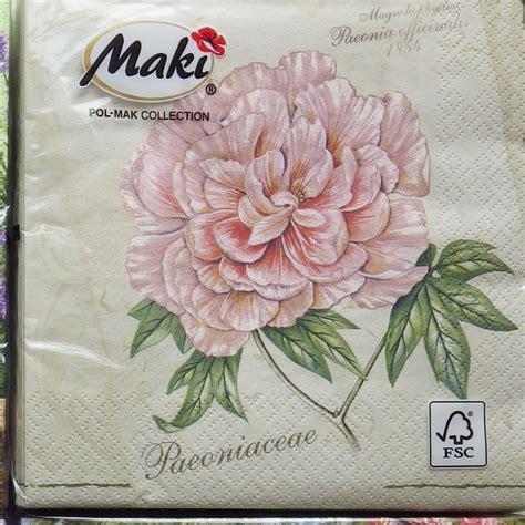 Serviette Decoupage - 20 paper napkins shabby chic decoupage vintage serviette