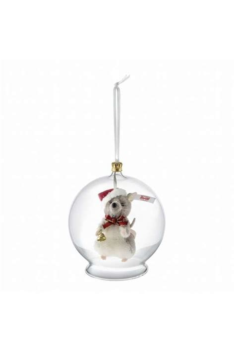 steiff christmas mouse in bauble ornament 021657 mouse