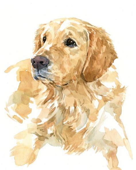 golden retriever watercolor golden labrador retriever 8x10 watercolor aquarelas golden labrador