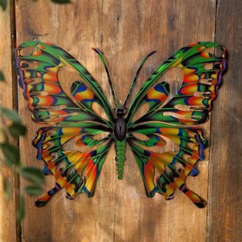 3d butterfly metal outdoor wall contemporary