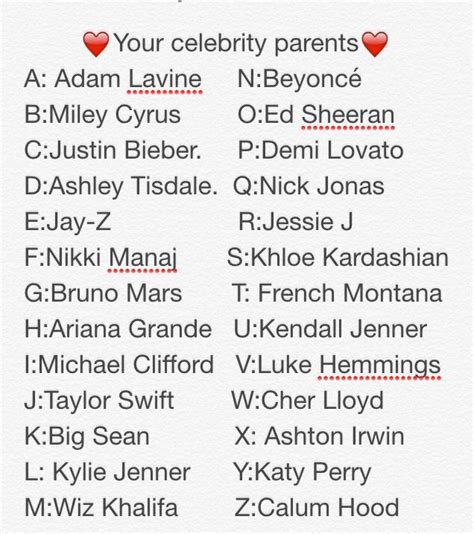 what is your celebrity name choose your celebrity parents using your first and last