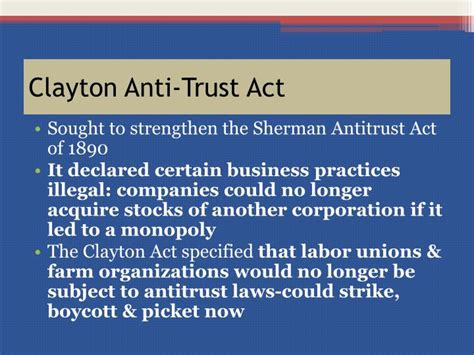 Clayton Act Section 3 by Ppt Chapter 17 Section 3 Teddy Roosevelt S Square Deal