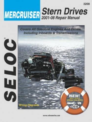 boat repair manuals mercruiser stern drive inboard boat engine 2001 2013