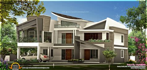 unique luxury home plans unique contemporary luxury house kerala home design and floor plans