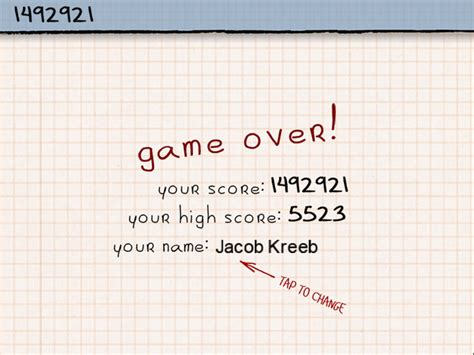 doodle jump cheats high score highest score in quot doodle jump quot world record jacob kreeb