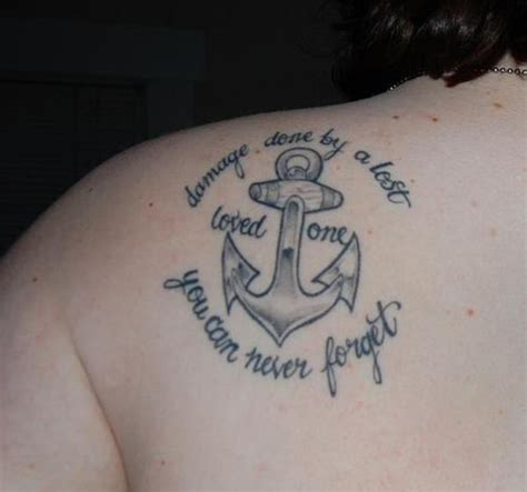 in loving memory tattoo designs you can never forget on back
