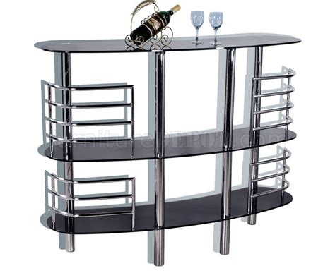 Contemporary Bar Table Contemporary Bar Table With Tinted Glass Top