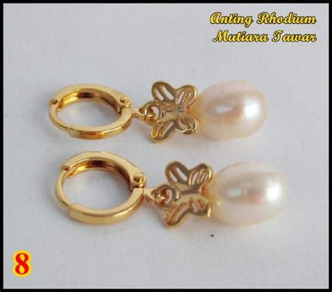 Anting Rhodium Mutiara Air Tawar Lombok 19 anting cantik rhodium mutiara air tawar lombok model ke delapan 8 apa saja ada