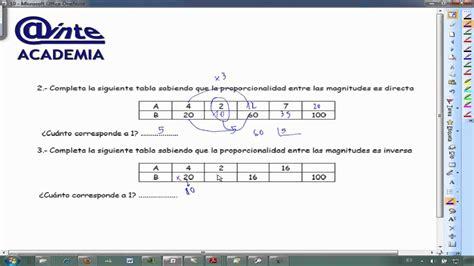 imagenes de razones matematicas tablas proporcionalidad directa e inversa matematicas 1 186