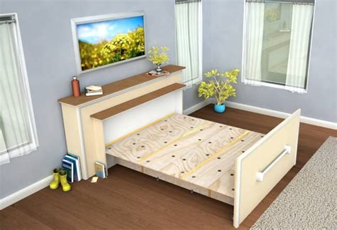 folding furniture for small houses live in a tiny house build a diy built in roll out bed