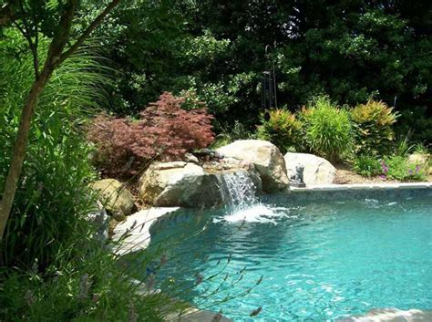 pool designs with waterfalls building your own natural swimming pool with waterfall