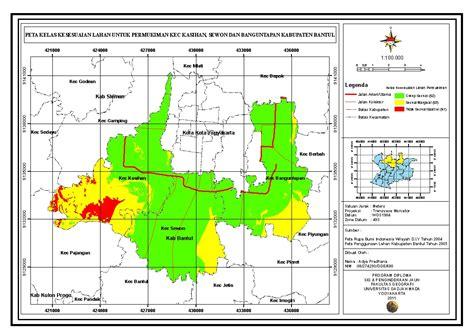 bagaimana pola layout peta yang baik kesesuaian lahan untuk pengembangan permukiman di sebagian