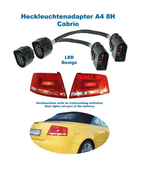 Audi A4 Cabrio R Ckleuchten by Adapter Facelift Heckleuchten Led F 252 R Audi A4 8h Cabrio