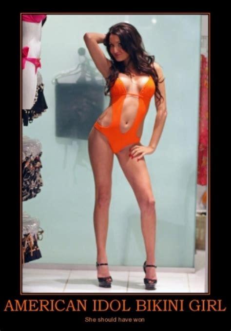 Hot Babe Memes - american idol bikini girl babe demotivational poster