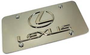 Lexus Front License Plate Lexus Logo Chrome Novelty Front License Plate Stainless