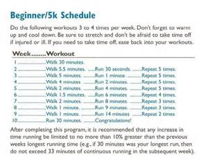 for beginners 5k schedule exercising motivation being