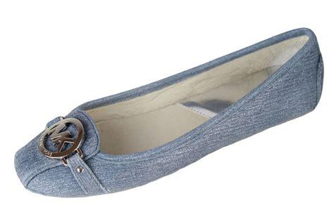 michael kors womens fulton moc blue denim casual loafers