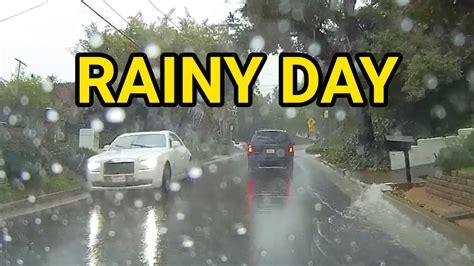 drive lo rainy morning drive in los angeles dash california
