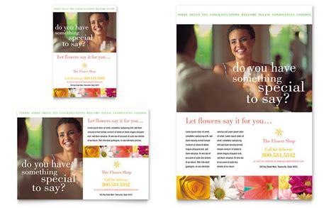 Wedding Videographer Brochure by Florist Shop Flyer Ad Template Design