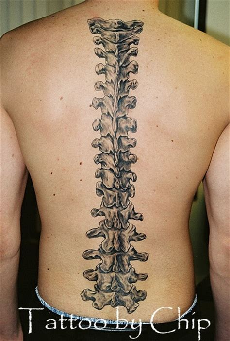 Pattern Spine Tattoo   spine tattoos for men ideas and designs for guys