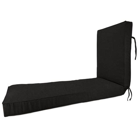 chaise lounge cushions home depot home decorators collection sunbrella black outdoor chaise