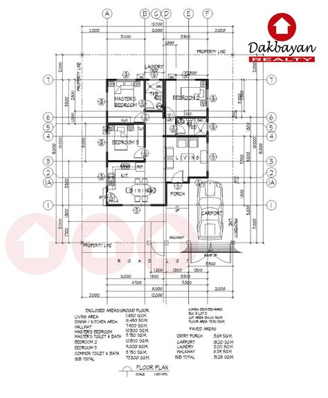 Floor Plan For Bungalow index of davao house and lot ilumina mh 63