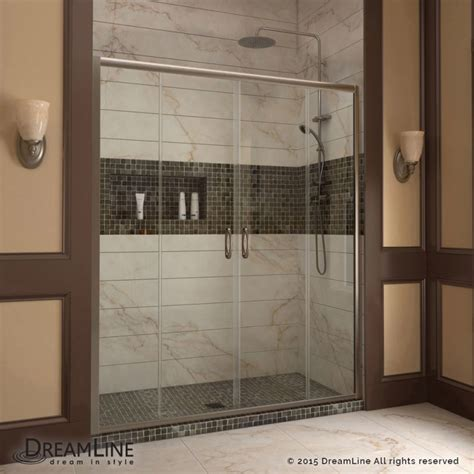 Dreamline Shdr 1160726 04 Brushed Nickel Vision 72 Quot High Repairing Sliding Glass Doors