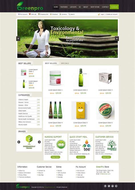 joomla shopping cart template ot greenpro premium joomla business shopping cart template