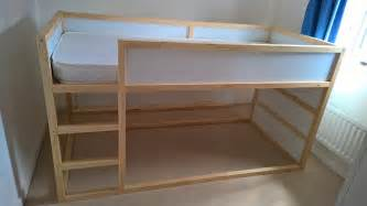 loft bed hacks kura trofast stuva bed hack ikea hackers