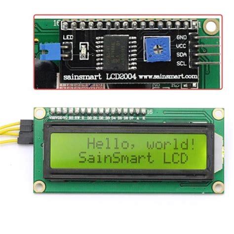 Ready Stock Lcd 1602 2004 I2c Serial Interface Backpack sainsmart iic i2c twi 1602 serial lcd module display for arduino mega2560 uno r3 3d printing