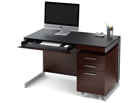 chocolate brown computer desk bdi sequel 47 x 24 rectangular chocolate stained