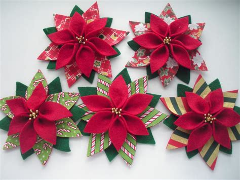 you have to see felt christmas poinsettia by patchrosa